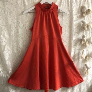 Free People turtle neck coral mini dress sz XS